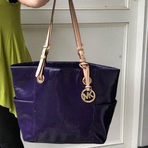 Perfect purple patent leather MK tote.